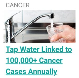 Cancer causing tap water is full of heavy metals and toxicity!