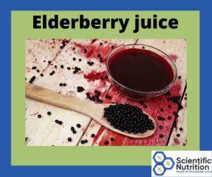 Elderberry juice for anti-viral